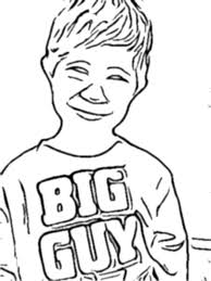 Turn Your Childs Photo Into A Coloring Page Bloomee Org Color Online
