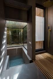 Japanese Shower Design Sunken Washroom By Studio 304 Allows Residents To Bathe In