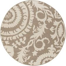artistic weavers big pine tan 9 ft x 9 ft round indoor outdoor area rug s00151001554 the home depot