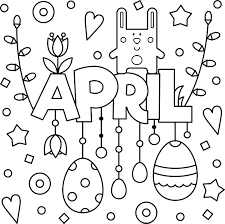 Make them happy with these printable coloring pages and let them show how artful and creative they. Welcome April Colouring Page Printable Thrifty Mommas Tips