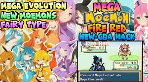 NEW! Pokemon Mega Moemon Fire Red Gba Hack With Mega Evolution,New  Moemons,Fairy Type(2018) - YouTube