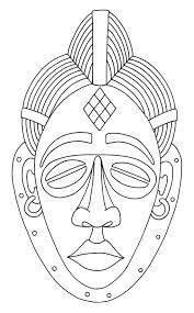 Small Picture African Mask Coloring Page Coloring Home