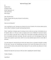 Sample Cover Letter Business Cover Letter Of Inquiry Letter Sample For Enquiry New Job Inquiry