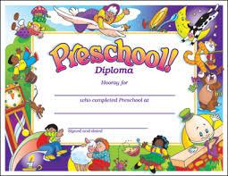 Dominie Preschool Diploma Award Certificates