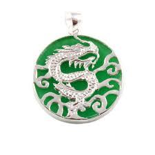 charm school uk sterling silver pendants jade silver chinese dragon pendant
