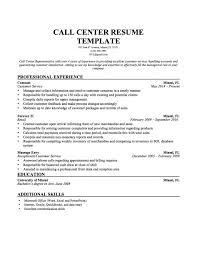 Inbound Call Centre Resume Sample Cv Example Templates Center