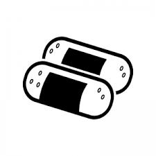 二つの俵型おにぎりのシルエット 無料のaipng白黒シルエットイラスト