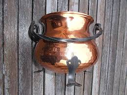 wooden wall candle holders wooden wall candle sconces elegant old copper cauldron planter or pot cover