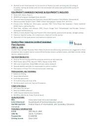 Sample Resume For Production Operator Production Operator Resume