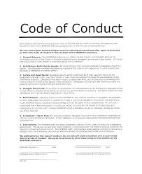 Code Of Conduct Sample College Paper Academic Service