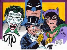 penguin batman original comic. Delighful Original Batman Joker Penguin U0026 Catwoman By Shelly Moldoff Comic Art Intended Batman Original