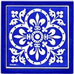 Delighful Painted Tile Designs Blue Tiles With Fluer De Lis Renaissance Design In Inspiration