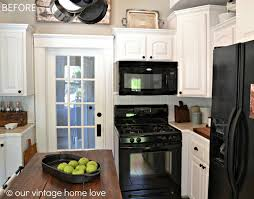 Off White Kitchen Off White Kitchen Cabinets With Black Appliances Roselawnlutheran