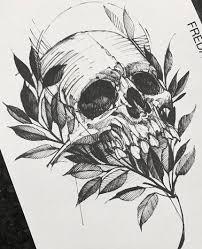 каталог эскизов тату с черепами и скелетами идеи для разработки