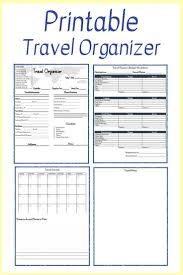 Free Trip Itinerary Planner Free Printable Travel Planner In 2019 Travel Planner