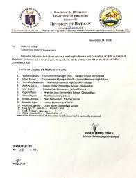 Department Of Education Division Of Bataan Issuances