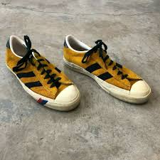 details about vtg 70s pro keds yellow leather shoes mens sz 10 d low top suede sneakers 80s