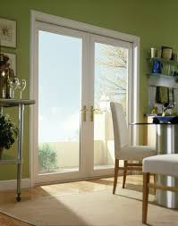 hinged glass patio doors swinging