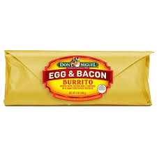 Miguel S Nutrition Chart Don Miguel Egg Bacon Cheese Burritos Item 65901