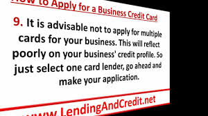 Applying For Business Credit How To Apply For A Business Credit Card In 9 Simple Steps Youtube