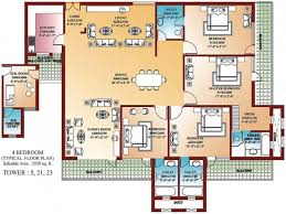 Small Picture Bedroom Home Blueprints Small 4 Bedroom House Plans Small House