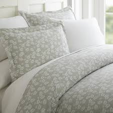 becky cameron wheat field patterned performance gray queen 3 piece duvet cover set