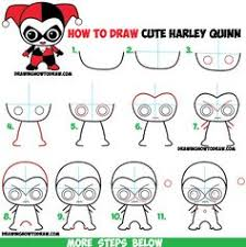 drawing step by step for beginners.  Step How To Draw Cute Chibi Harley Quinn From DC Comics In Easy Step By  Drawing And By For Beginners D