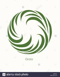 Abstract Design Company Grass Label Abstract Design Round Icon Beautiful Logo