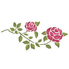 stencil rose stencil