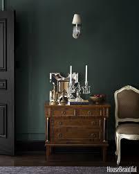 Black doors/trim + deep green walls