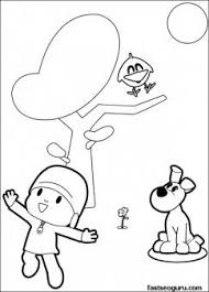 Printable Coloring Pages Pocoyo And Sleepy Bird Singer A Song