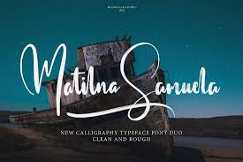 this is a collection of two cursive calligraphy fonts that feature two diffe designs one with clean typography and the other with a rough textured