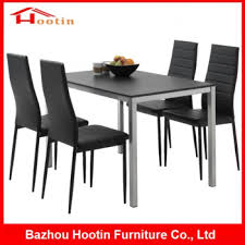 best quality dining room furniture. High Quality Dining Room Furniture Black Glass Top Table 4 Leather  Chairs Modern Corner Fashion Best Quality Dining Room Furniture T