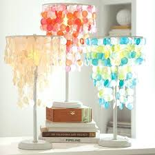 green table lamp cool desk lamps for teens pottery barn teen pink orange shell and shade