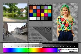 Colour Science Digital Test Images For Monitor And Printer Calibration