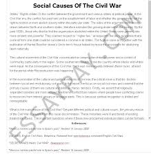 Civil War Essay Social Causes Of The Civil War Essay Example For Free 690