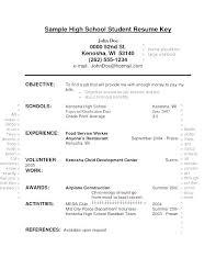 Resume Sample For High School Graduate Resumes High School Examples