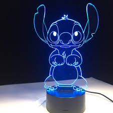 Stitch Cartoon <b>3D LED Lamp</b> Bedroom <b>Table</b> Night <b>Light</b> Acrylic ...