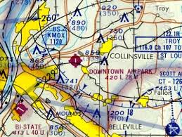St Louis Sectional Chart Abandoned Little Known Airfields Southwestern Illinois