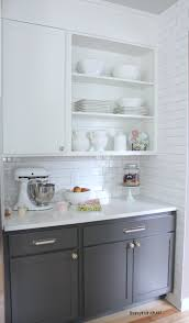 White And Gray Kitchen Kitchen Cabinet Colors Before After The Inspired Room
