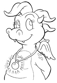Small Picture Cassie Glowing Dragon Badge Coloring Page I Dragon Tales