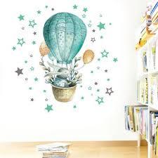 hot air balloon rabbit pvc sticker wall