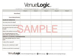 event planning questionnaire what questions to ask at your venue walkthrough venue logic blog