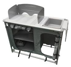 ALUMINIUM Super Light CAMPING KITCHEN WITH SINK BOWL In CARRY BAG Camping Kitchen Sink