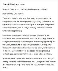 Thank You Letter For Interview With References Milviamaglione Com