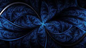 blue fractal art dark blue #symmetry ...