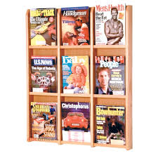 magazine rack office. 9 pocket wall mount magazine rack office