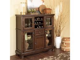 Ashley Furniture Porter Server With Storage Cabinet Olinde S Walker Dining Storage Cabinet