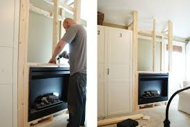 fireplace how to build a frame to hold electric or gel insert
