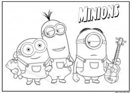 Small Picture Printable Fall Coloring Pages Minions Coloring Pages